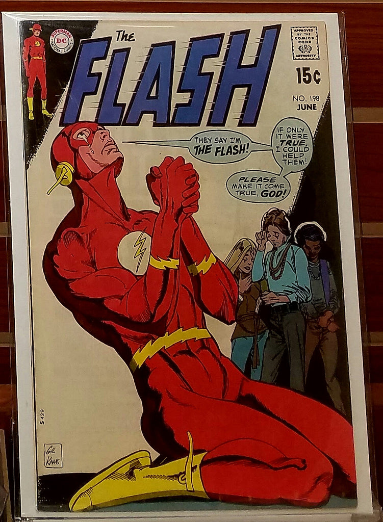 FLASH #198 (1970) GIL KANE COVER VINCE COLLETTA-VF-