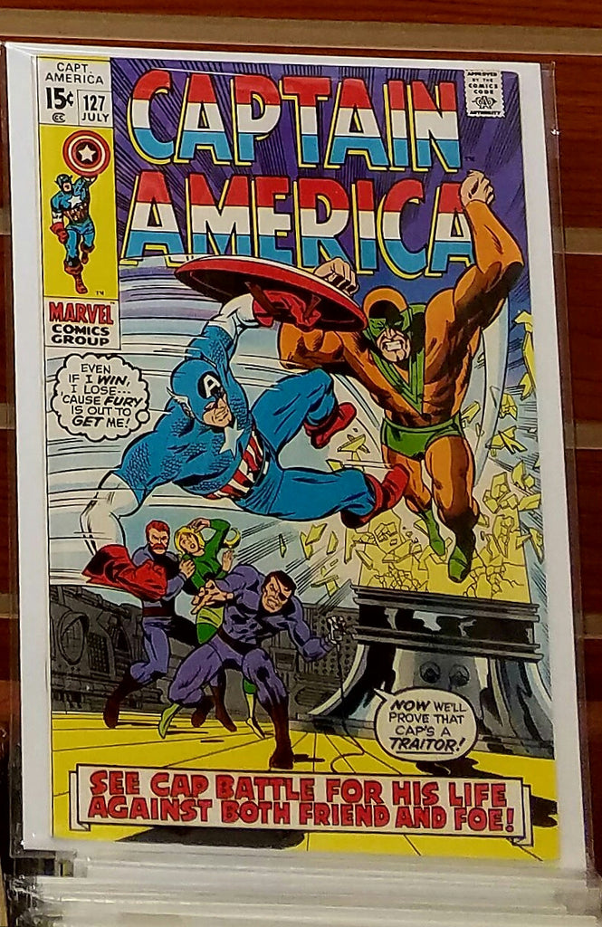 CAPTAIN AMERICA #127 (1970) WALLY WOOD INKS-VF+
