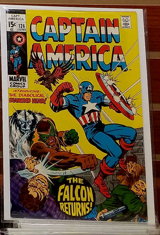 CAPTAIN AMERICA #126 (1970) JACK KIRBY COVER-VF+