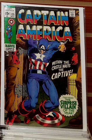 CAPTAIN AMERICA #125 (1970) MARIE SEVERIN COVER-VF-