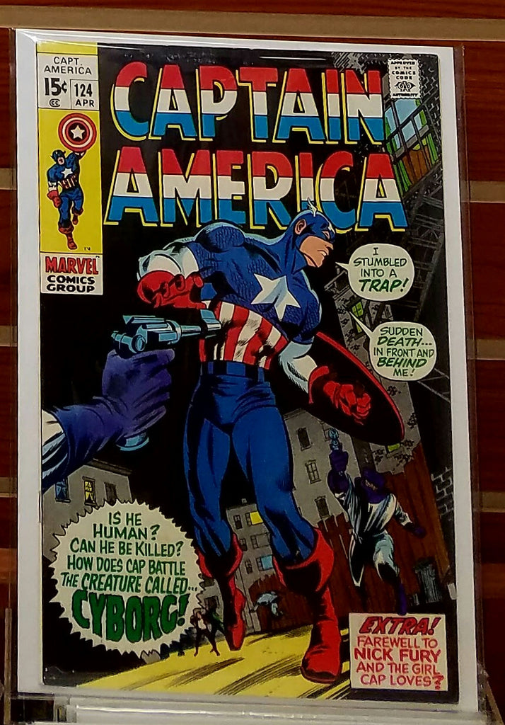 CAPTAIN AMERICA #124 (1970) MARIE SEVERIN COVER-VF+