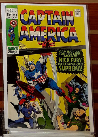 CAPTAIN AMERICA #123 (1970) GENE COLAN NICK FURY-VF