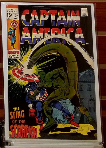 CAPTAIN AMERICA #122 (1970) GENE COLAN SCORPION-VF+/NM
