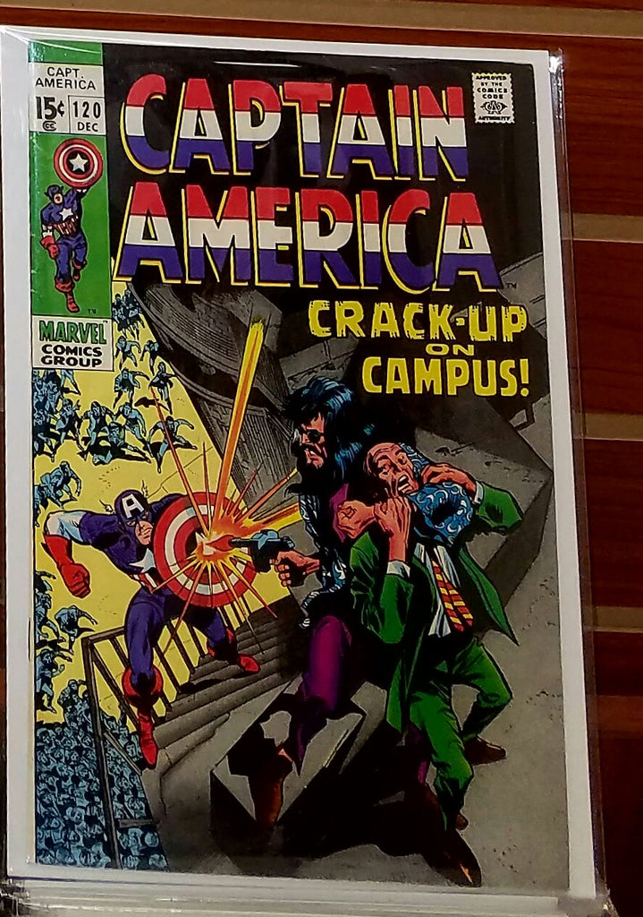 CAPTAIN AMERICA #120 (1969) RED SKULL FALCON-VF
