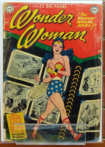WONDER WOMAN #45 (1951) ORIGIN OF WONDER WOMAN-GD/VG