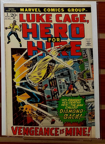 LUKE CAGE HERO FOR HIRE #2 (1972) ARCHIE GOODWIN-VF+