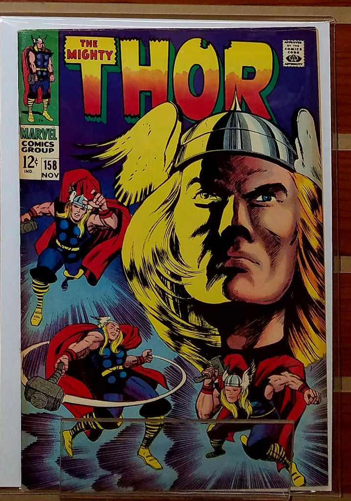 THE MIGHTY THOR #158 (1969) ORIGIN DR. BLAKE-VF+
