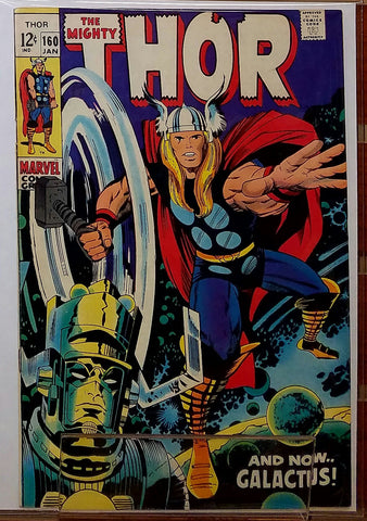 THE MIGHTY THOR #160 (1969) KIRBY GALACTUS COVER-VF/NM