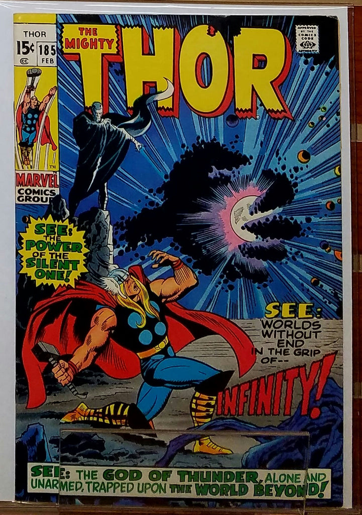 THE MIGHTY THOR #185 (1971) INFINITY LOKI ODIN-VF+
