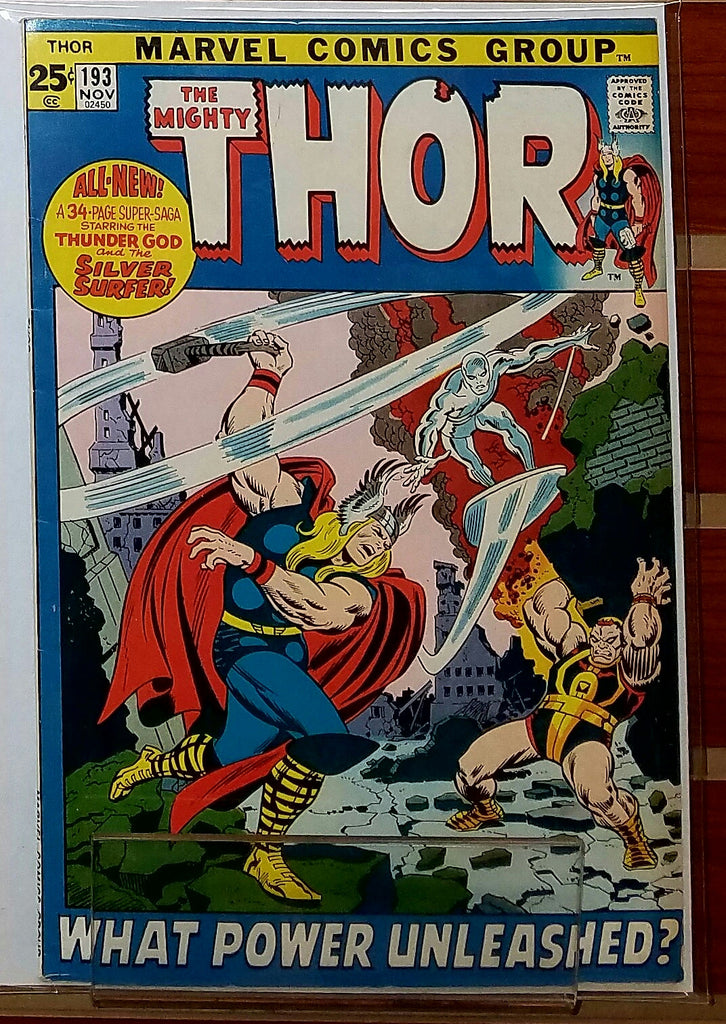 THE MIGHTY THOR #193 (1971) SILVER SURFER CROSSOVER-VF+
