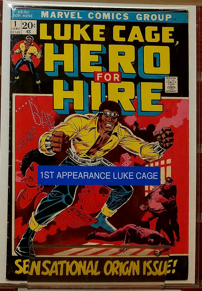 LUKE CAGE HERO FOR HIRE #1 (1972) 1ST APPEARANCE LUKE CAGE-VF+