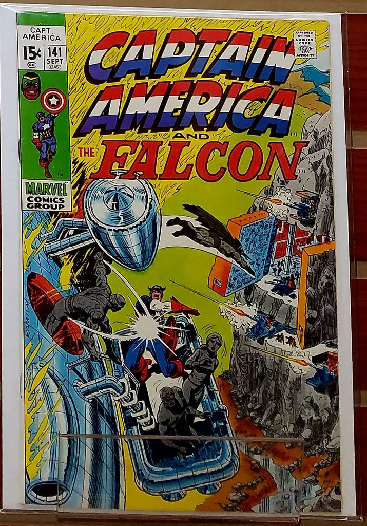 CAPTAIN AMERICA #141 (1971) JOHN ROMITA COVER-NM-