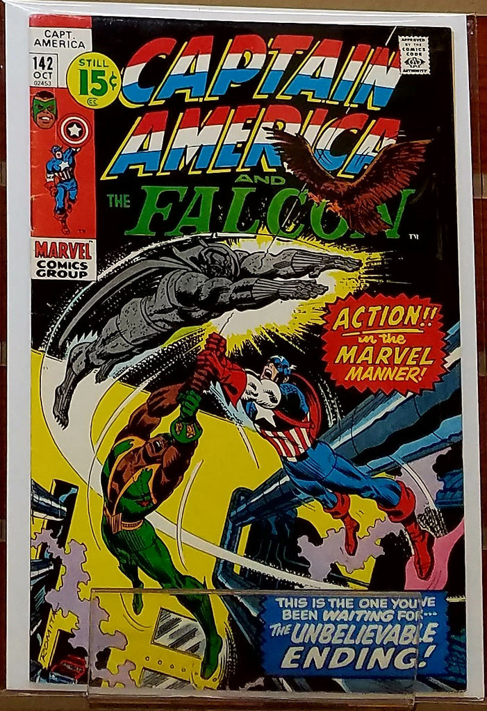 CAPTAIN AMERICA #142 (1971) JOHN ROMITA COVER-VF