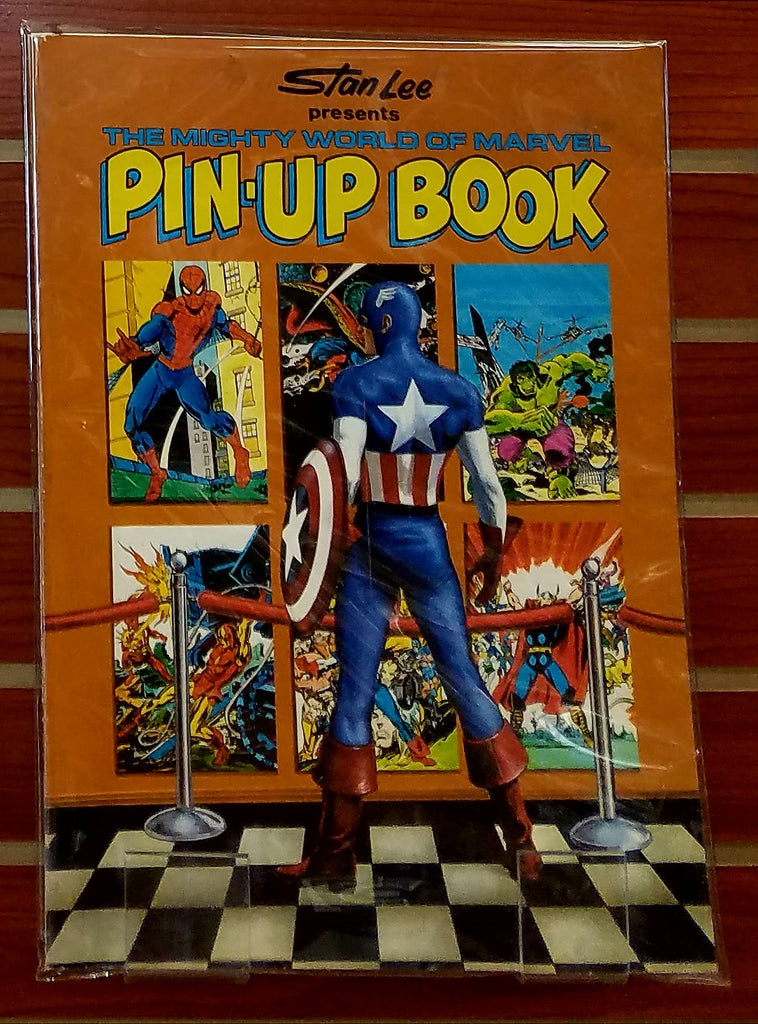 MIGHTY WORLD OF MARVEL PIN-UP BOOK (1978)-FINE/VF