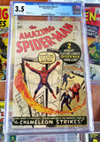 AMAZING SPIDER-MAN #1 1963-CGC 3.5 UNIVERSAL OW/WHITE PAGES