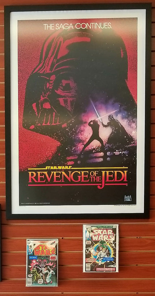 REVENGE OF THE JEDI AUTHENTIC 1982 TEASER MOVIE POSTER - NO DATE - NM/M