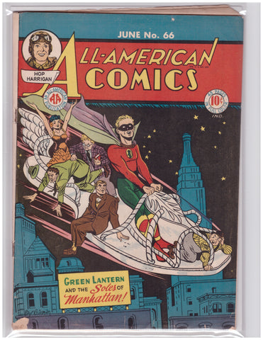 ALL-AMERICAN COMICS #66 GOLDEN AGE VG+ GREEN LANTERN ALFRED BESTER