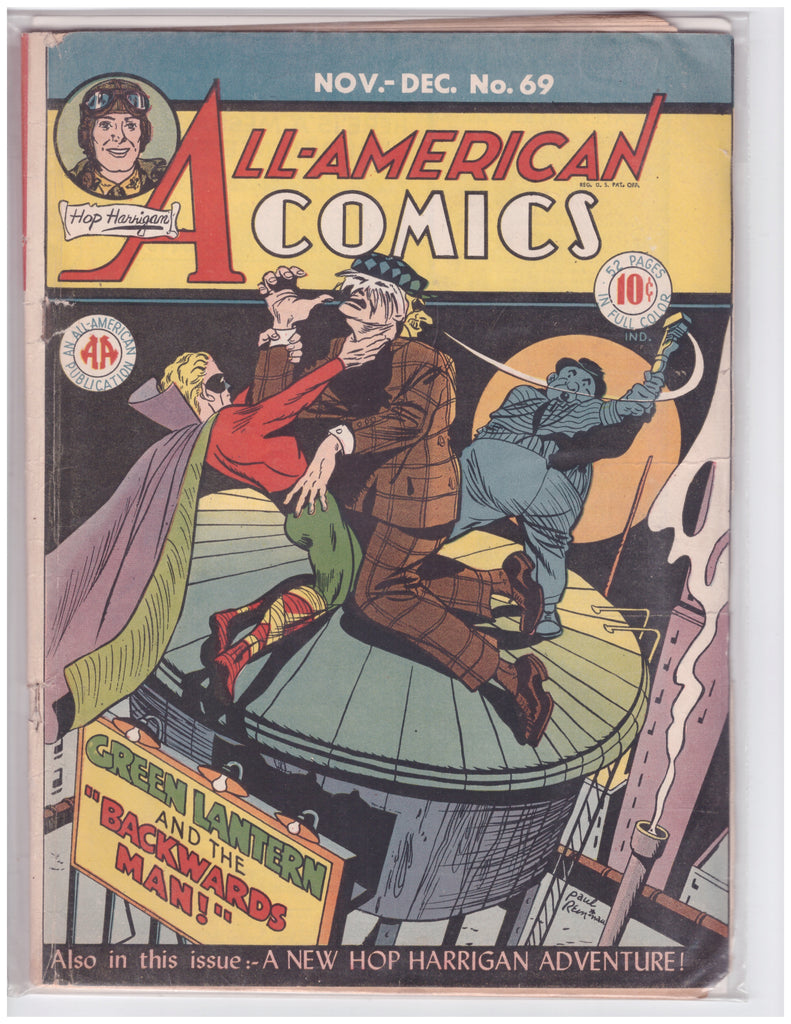 ALL-AMERICAN COMICS #69 GOLDEN AGE VG+ GREEN LANTERN ALFRED BESTER