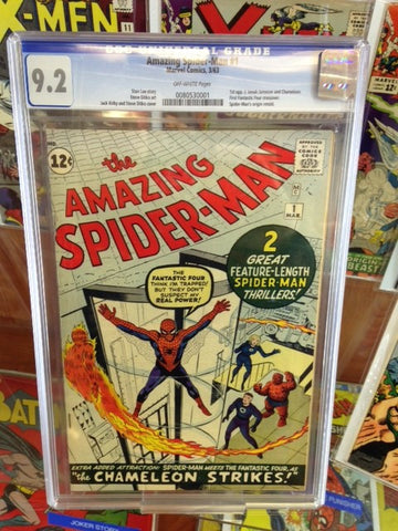 AMAZING SPIDER-MAN #1 1963-CGC 9.2 UNIVERSAL O/W PAGES