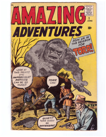 AMAZING ADVENTURES #1 (1961) 1ST APPEARANCE DR. DROOM-FN/VF KIRBY COVER STAN LEE SCRIPT