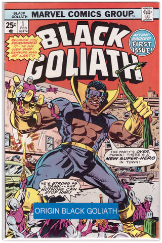 BLACK GOLIATH #1 (1976) ORIGIN OF BLACK GOLIATH VF+/NM-