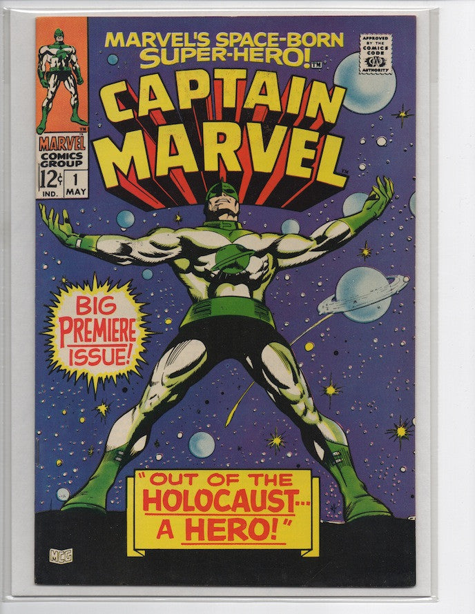 CAPTAIN MARVEL #1 PREMIERE BRONZE AGE MARVEL ISSUE-VF/NM