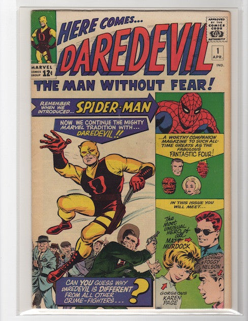 DAREDEVIL #1-VF+ STAN LEE-KARL KESEL COLLECTION
