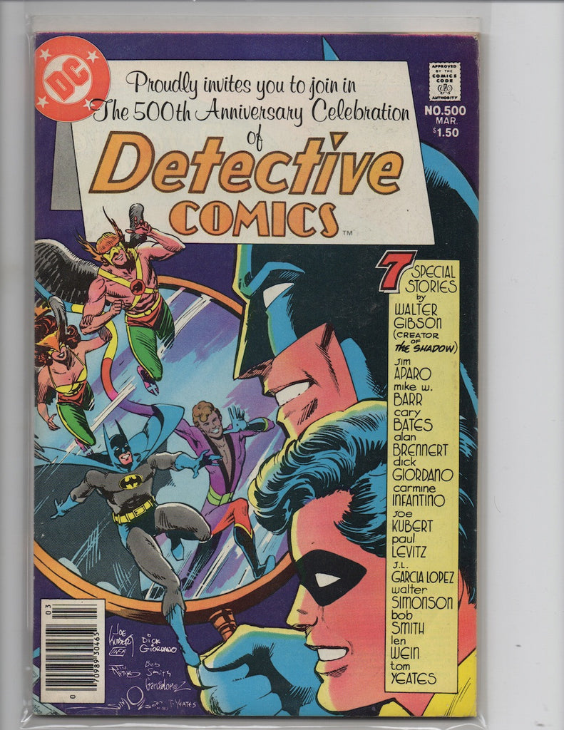 DETECTIVE COMICS #500 SIGNED WITH ORIGINAL SCRIPT ALAN BRENNERT COLLECTION-VF+