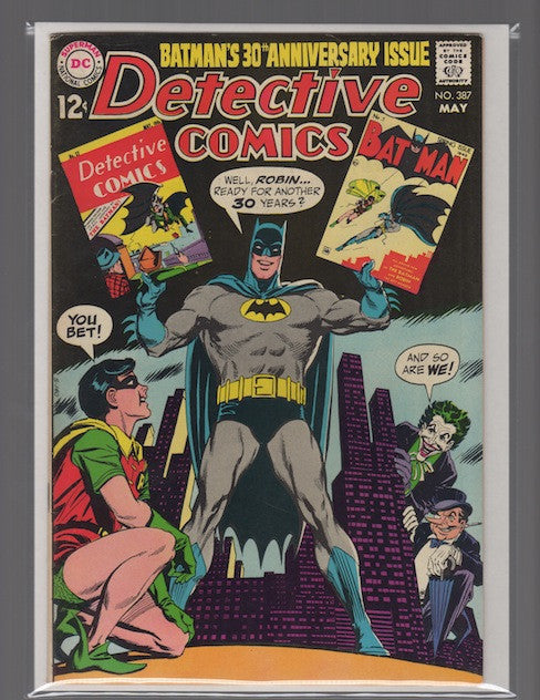DETECTIVE COMICS #387 SILVER AGE (1969) MARK WAID COLLECTION-FINE+