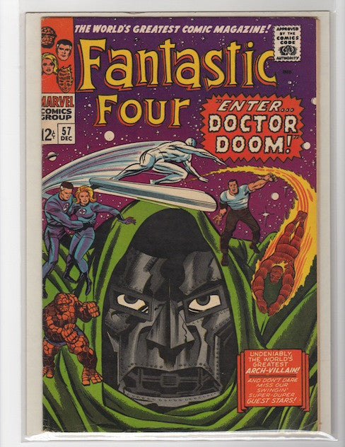 FANTASTIC FOUR #57 DOCTOR DOOM JACK KIRBY 1966-VF