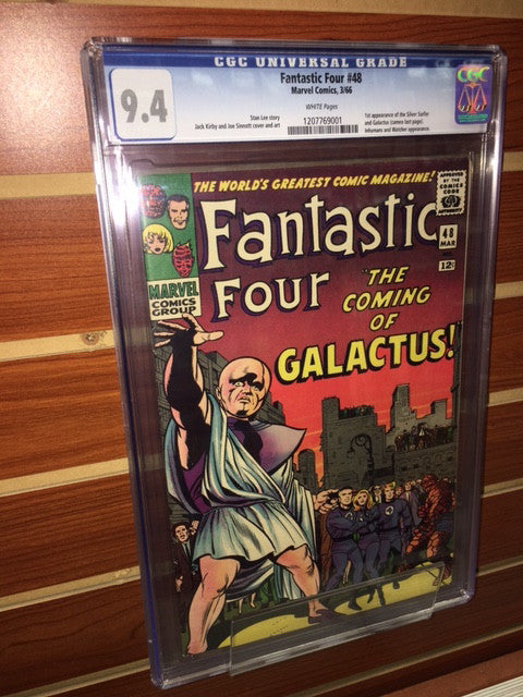 FANTASTIC FOUR #48 CGC GRADED 9.4 WHITE PAGES 1ST APPEARANCE SILVER SURFER AND GALACTUS