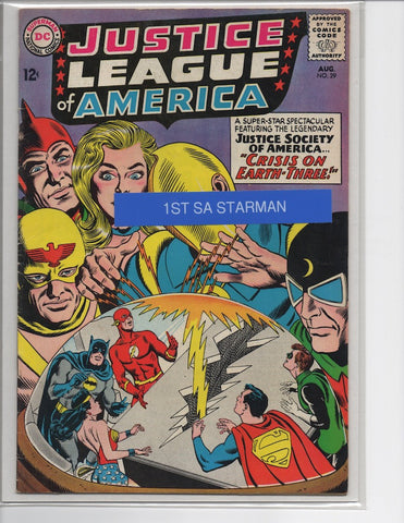 JUSTICE LEAGUE OF AMERICA #29 1ST SA APPEARANCE STARMAN-FINE+