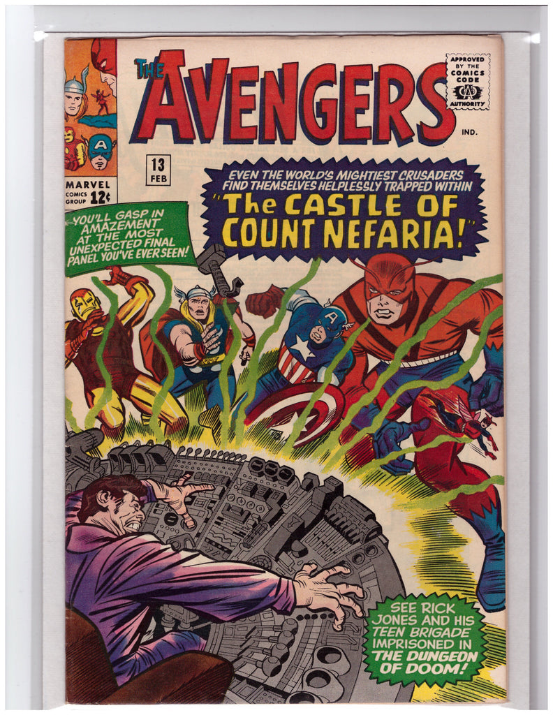 AVENGERS #13 1ST APPEARANCE COUNT NEFARIA-VF+/NM