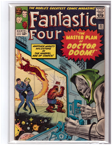 FANTASTIC FOUR #23 STAN LEE JACK KIRBY FINE+