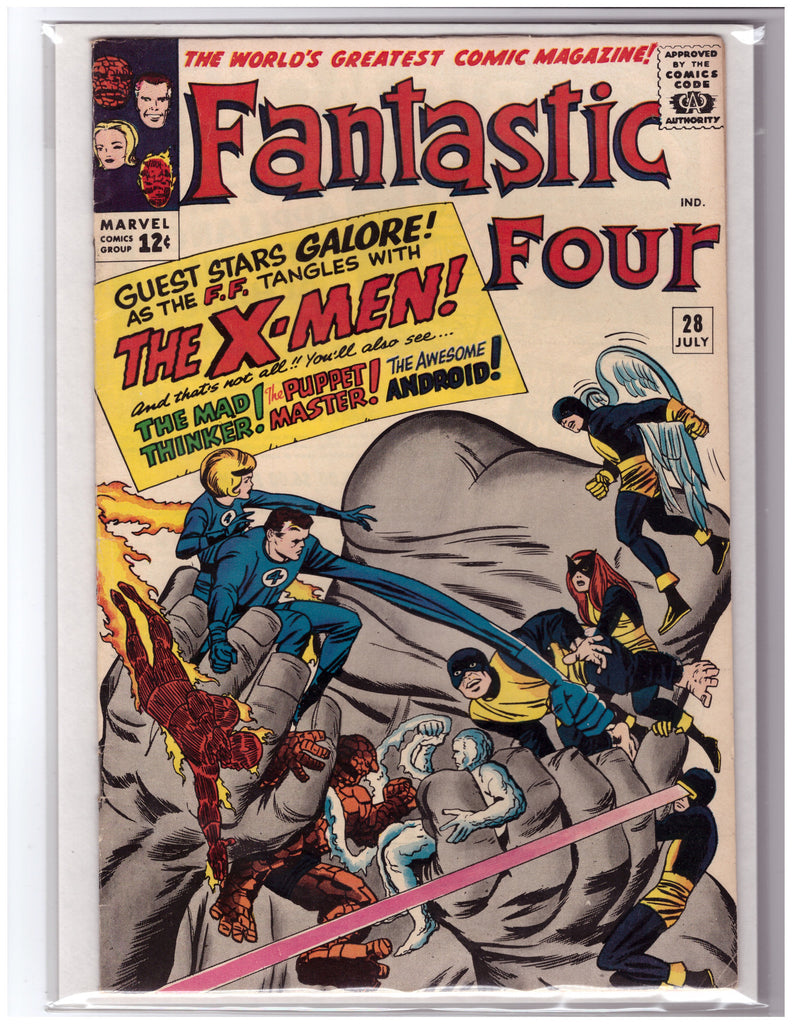 FANTASTIC FOUR #28 JACK KIRBY X-MEN APPEARANCE-VF