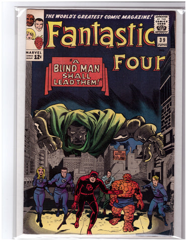 FANTASTIC FOUR #39 JACK KIRBY WALLY WOOD-VF+