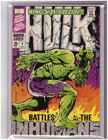 HULK KING-SIZE SPECIAL #1 INHUMANS APPEARANCE-VF/VF+
