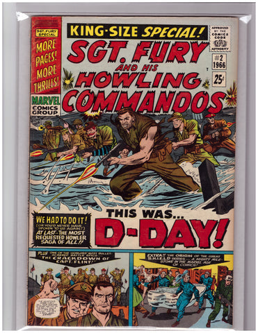 SGT. FURY AND HIS HOWLING COMMANDOS #2 JACK KIRBY (1966)-FINE+