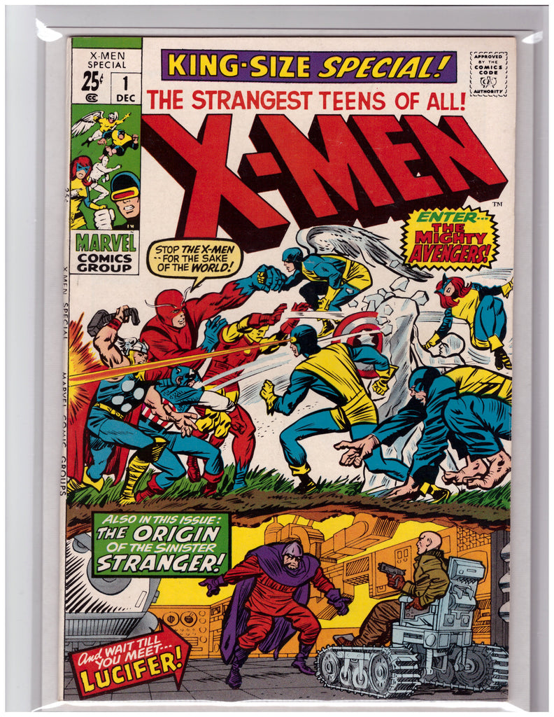 X-MEN KING-SIZE ANNUAL #1 JACK KIRBY AVENGERS APPEARANCE-NM
