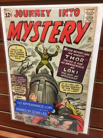 JOURNEY INTO MYSTERY THOR #85 1ST APPEARANCE LOKI SIGNED BY STAN LEE-FINE+/VF