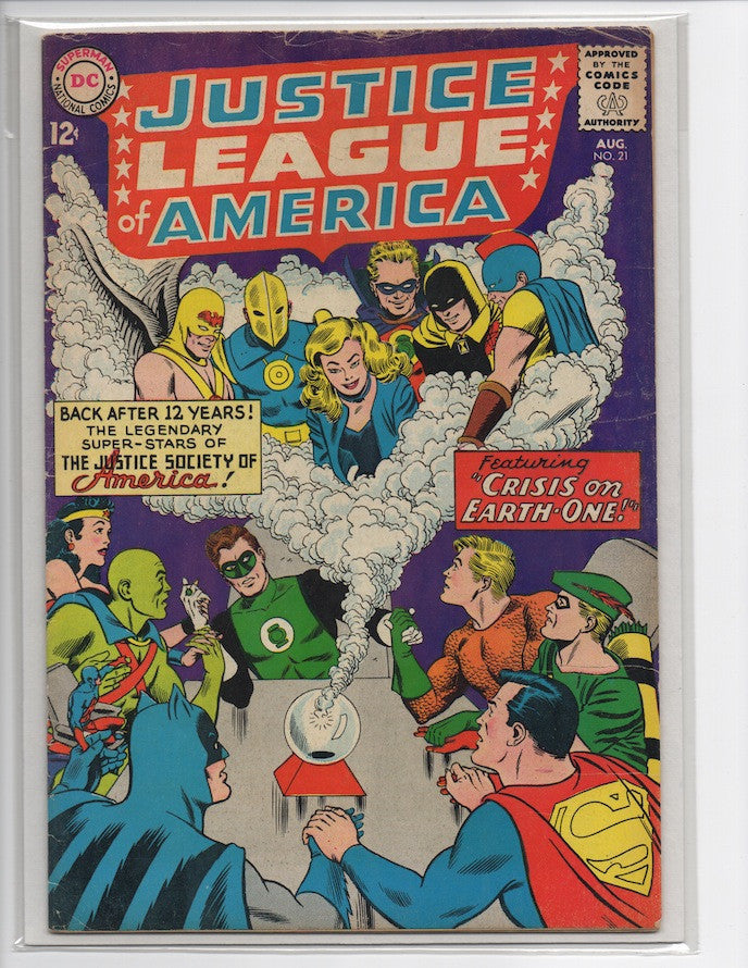 JUSTICE LEAGUE OF AMERICA #21-GOOD+/VG 1ST SA APPEARANCE HOURMAN!
