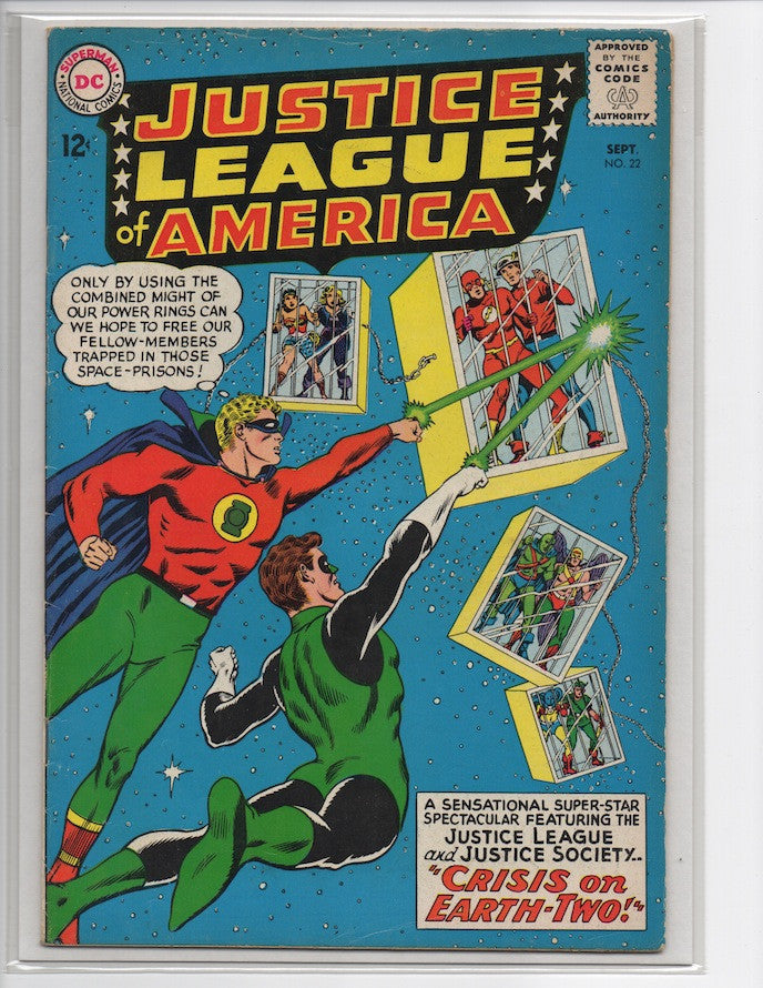 JUSTICE LEAGUE OF AMERICA #22 1ST SA APPEARANCE HOURMAN-VG+/FINE