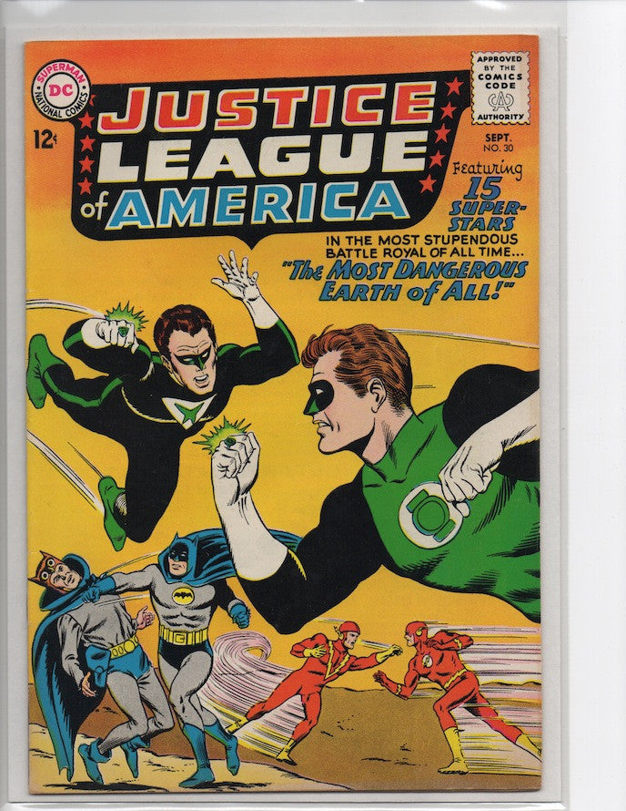JUSTICE LEAGUE OF AMERICA #30 JUSTICE SOCIETY OF AMERICA-VF+