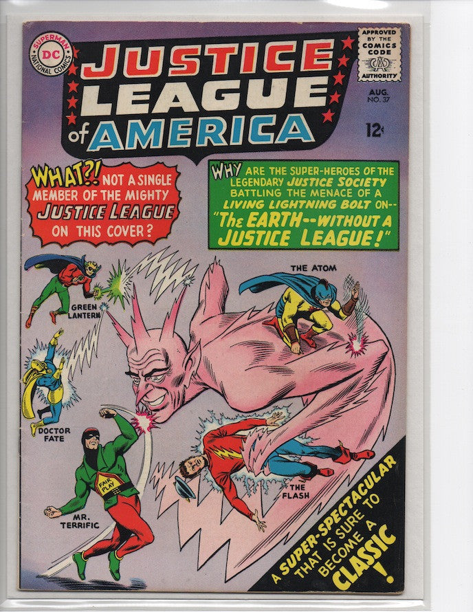 JUSTICE LEAGUE OF AMERICA #37 1ST SA APPEARANCE MR. TERRIFIC-VF+