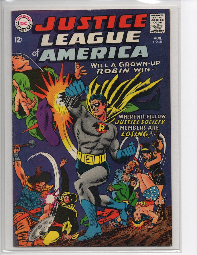 JUSTICE LEAGUE OF AMERICA #55 JUSTICE SOCIETY OF AMERICA-VF-