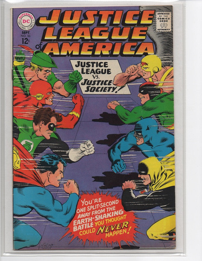 JUSTICE LEAGUE OF AMERICA #56 JLA VS. JUSTICE SOCIETY-VF+