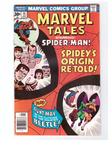 MARVEL TALES #75 VF- SPIDER-MAN STAN LEE - BLASTOFF COMICS