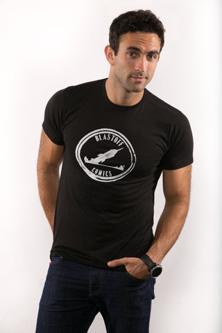 Blastoff Men's Black T-Shirt