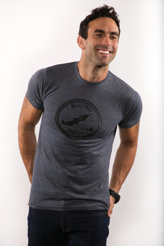 BLASTOFF MEN'S GREY HEATHER T-SHIRT SIZE MEDIUM