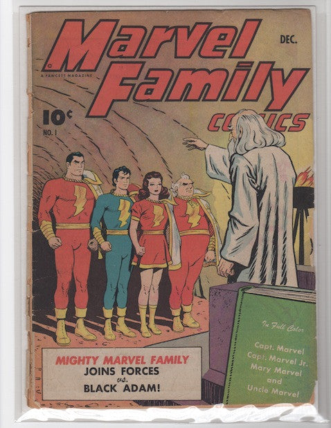 MARVEL FAMILY COMICS #1-FAIR-1945-MARK WAID COLLECTION